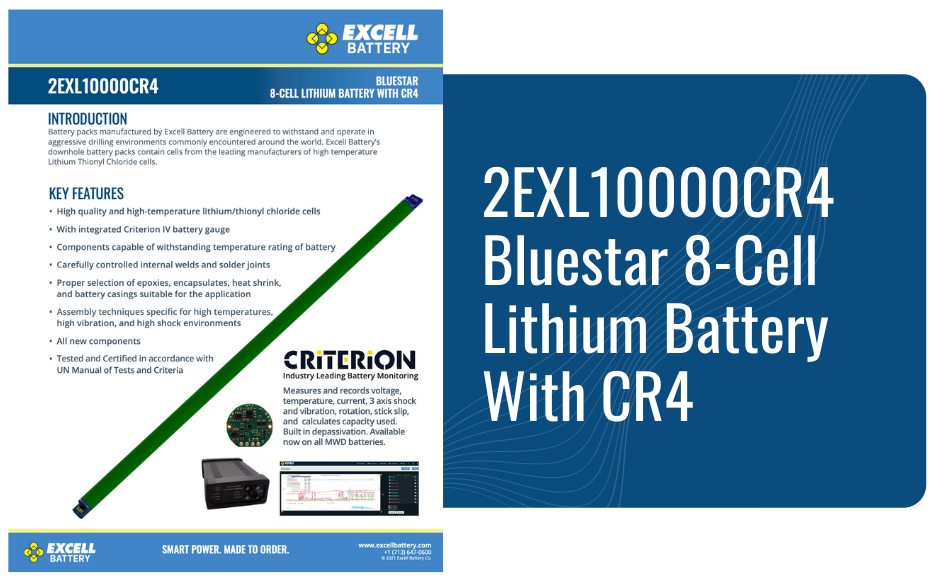 2EXL10000CR4 Bluestar 8-Cell Lithium Battery With CR4