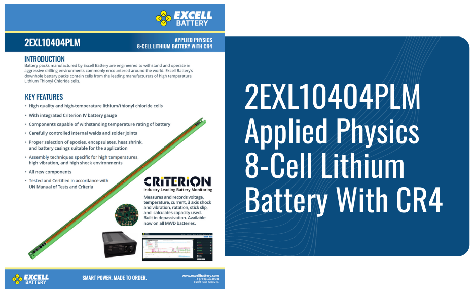 2EXL10404PLM Applied Physics 8-Cell Lithium Battery With CR4