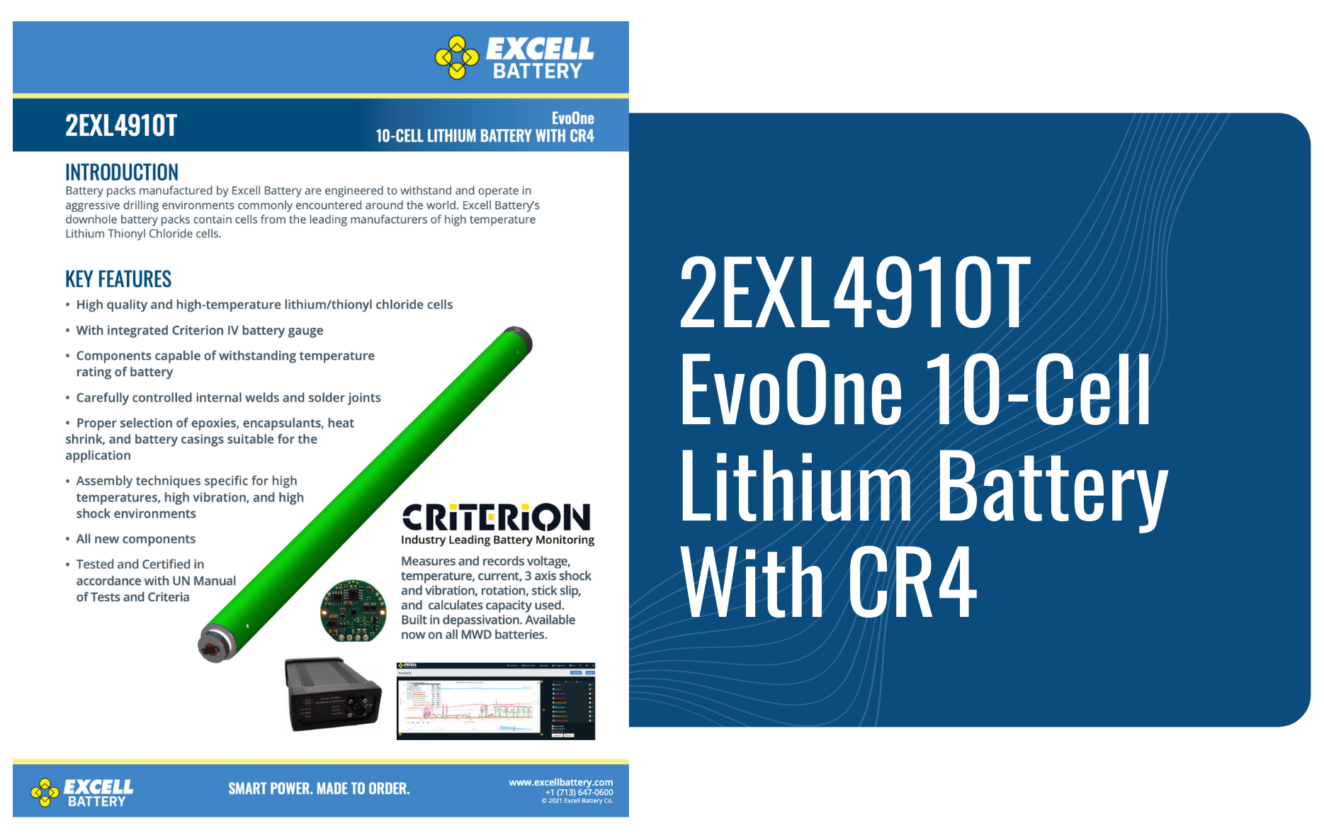 2EXL4910T EvoOne 10-Cell Lithium Battery With CR4-1