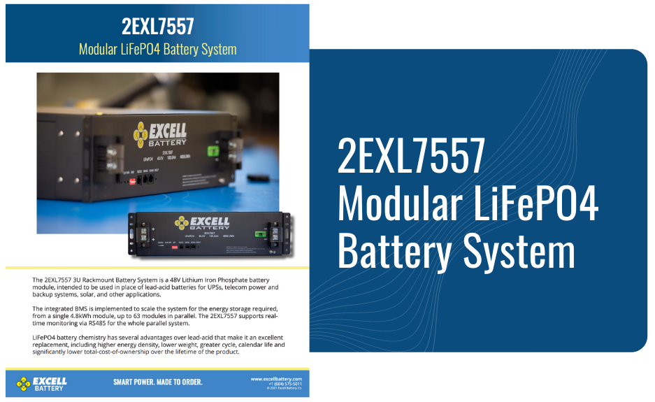 2EXL7557 Modular LiFePO4 Battery System