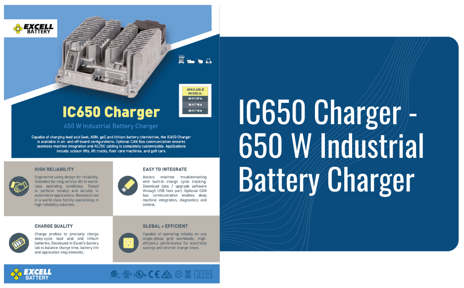 IC650 Charger - 650 W Industrial Battery Charger